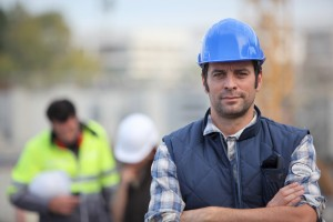 Confident foreman on construction site